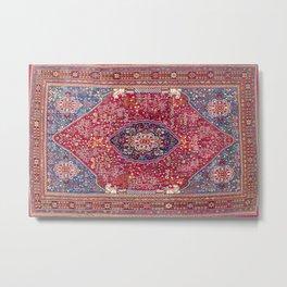 Qashqa'i  Antique Fars Persian Rug Metal Print