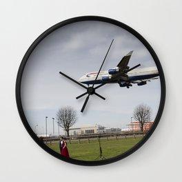 Jumbo Jet Photo Shoot Wall Clock