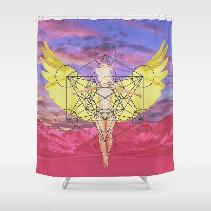 Angel Shower Curtain By Gradynt
