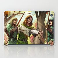 robin hood iPad Cases featuring Robin Hood and his Merry Women by Eco Comics