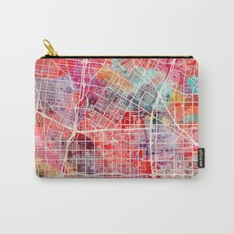 Downey map California painting 2 Carry-All Pouch