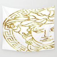 medusa Wall Tapestries featuring Medusa by InteriorEpiphanies
