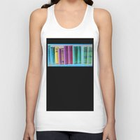 library Tank Tops featuring Library Wisdom by Jean Ladzinski