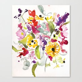 Jim Dandy Farm Flowers Canvas Print