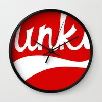 funky Wall Clocks featuring Funky by DeMoose_Art