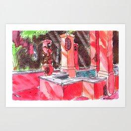 Tower Of Terror Reflecting Pool Art Print