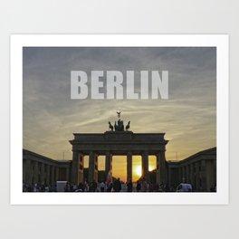 BERLIN, Sunset at the Brandenburg Gate Art Print