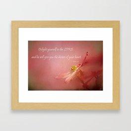 Delight Yourself Framed Art Print