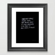 Throw Away Framed Art Print