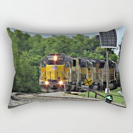 Train by the River, Baton Rouge Rectangular Pillow