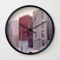 brooklyn Wall Clocks featuring Brooklyn by Ross Burnham