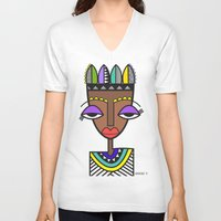 indie V-neck T-shirts featuring Indie by Andrea Silvestri