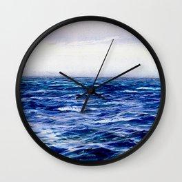 Blue Sea by William Lionel Wyllie Wall Clock
