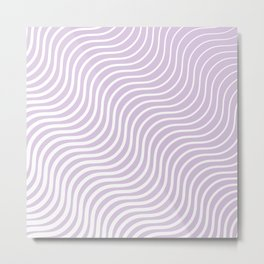 Whiskers Light Purple & White #713 Metal Print