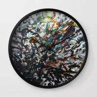 splatter Wall Clocks featuring Splatter by Magma