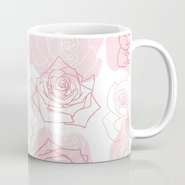 Beautiful Rose Flower Pattern Art Coffee Mug