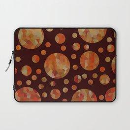 Orange Circles Against Dark Red Laptop Sleeve