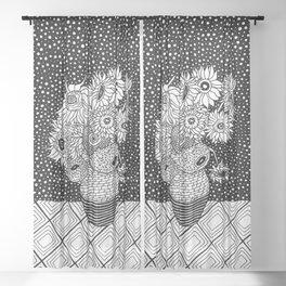 Van Gogh - Sunflowers Sheer Curtain