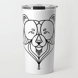 Black Bear Two Travel Mug