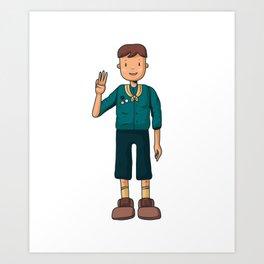 Boy Scouts sweet Art Print