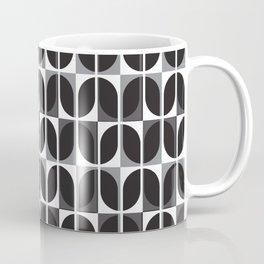 Geometric Pattern 181 (black gray curves) Coffee Mug