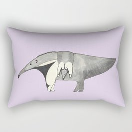 Mom and Baby Anteater Rectangular Pillow