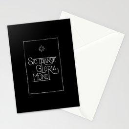 Sic Transit Gloria Mundi (black) Stationery Cards