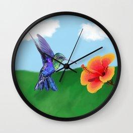 The very hungry hummingbird Wall Clock