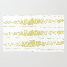 Golden Scribbles 1 Rug