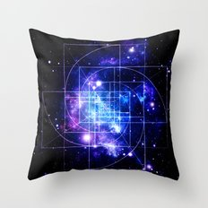 Galaxy sacred geometry Throw Pillow