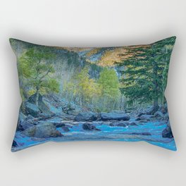 River Bed Sunrise // Long Exposure Landscape Photograph in the Colorado Rocky Mountains Rectangular Pillow