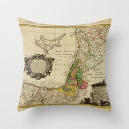 Map of Palestine (1744) Throw Pillow