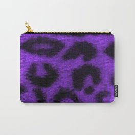 Spotted Leopard Purple Carry-All Pouch