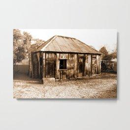 Stinson Cottage Sepia Metal Print