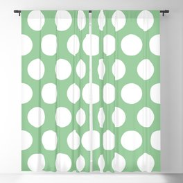 airy blue dots pattern Blackout Curtain