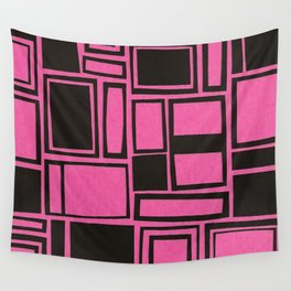 Windows & Frames - Pink Wall Tapestry
