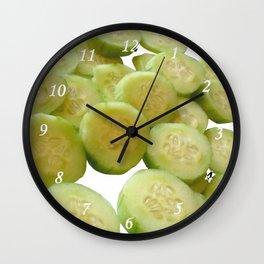 Cucumber Quarters Wall Clock