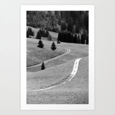 Winding road #2 Art Print
