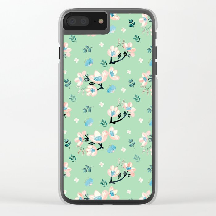 Be who you want to be - flowers and mint Clear iPhone Case