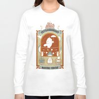 circus Long Sleeve T-shirts featuring The Moving Circus by Teo Zirinis