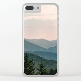 Smoky Mountain Pastel Sunset Clear iPhone Case