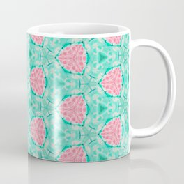 Millennial Pink Chenille and Mint Anchor  Pattern Coffee Mug