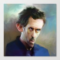 house md Canvas Prints featuring house md by robotrake