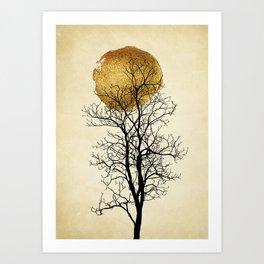 Moonrise - Kubistika by Boris Draschoff Art Print