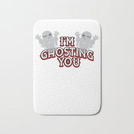 I'm Ghosting You Cute Halloween Indifferent Ghost Light Bath Mat