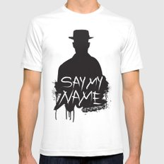 Say My Name - Heisenberg (Silhouette version) SMALL Mens Fitted Tee White