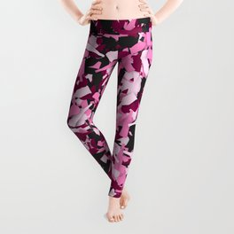 Pink alcohol camouflage Leggings