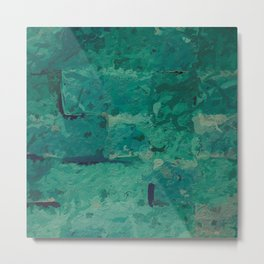 Tidewater green oceanic abstract Metal Print