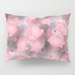 Pink Piggies Pillow Sham