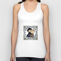johnlock Tank Tops featuring Happiness Is A Warm Blogger by Marlowinc